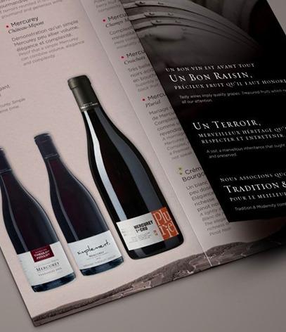 Brochure commerciale viticole