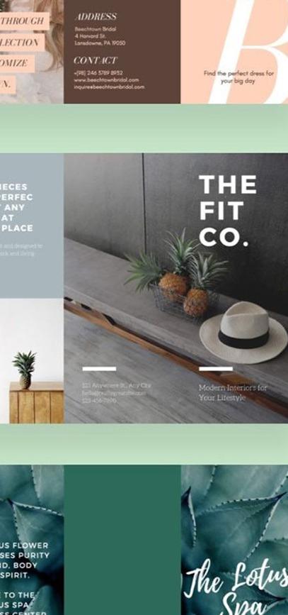 Exemples de brochures commerciales